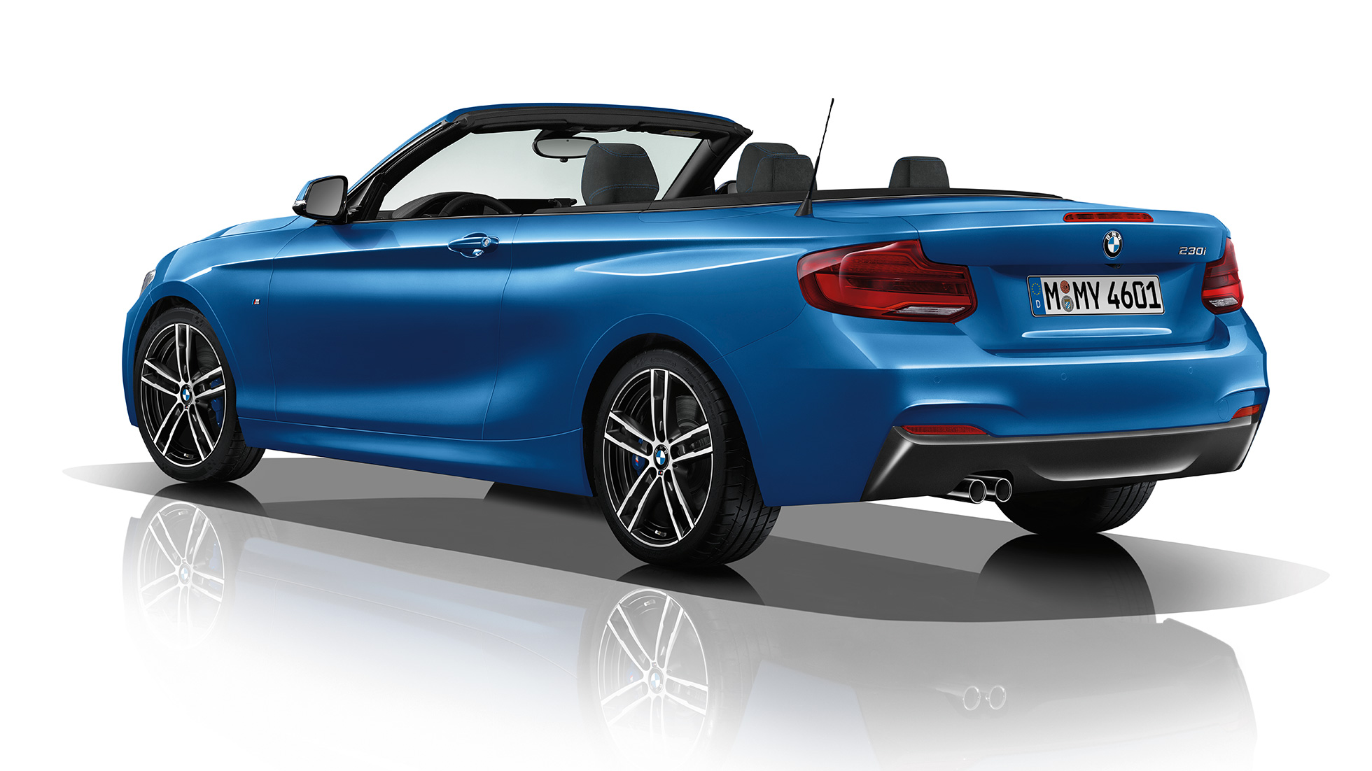 BMW 2 Series Convertible, Model M Sport three-quarter rear shot